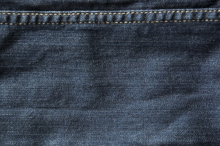 dark blue jeans texture with thread line Stock Photo