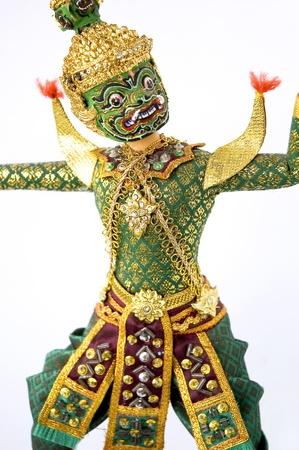 Green giant costume for Khon Thai classical dancing photo