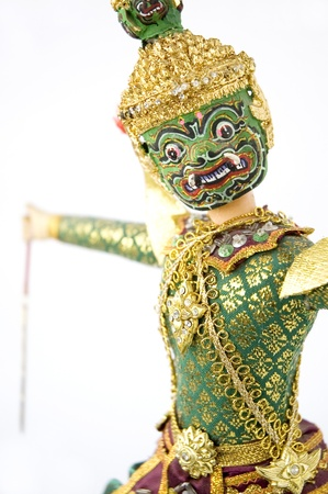 Giant with acting of Khon Thai classical dance  photo