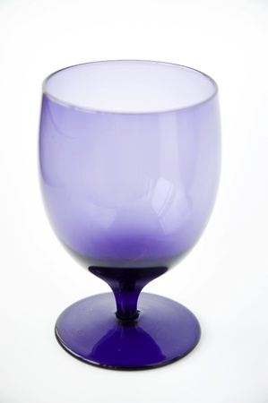 purple glass on white background
