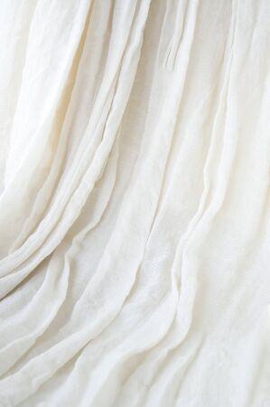 white soft fabric background photo