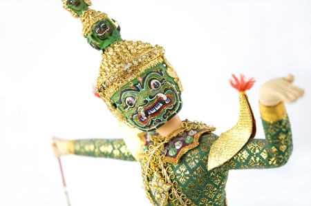 close up of Khon Thai classical dancing face