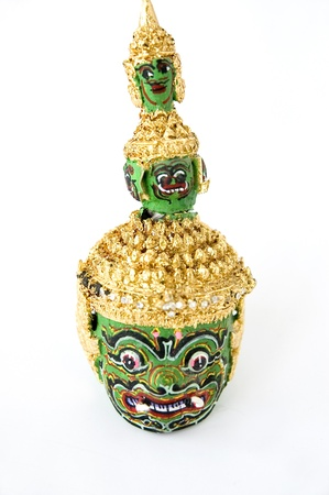 green giant model of Thai classical dance mask photo