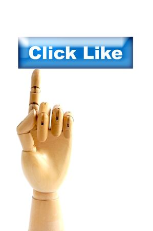 hand model click to like button Stock Photo - 11989725