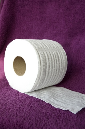white tissue roll on towel photo