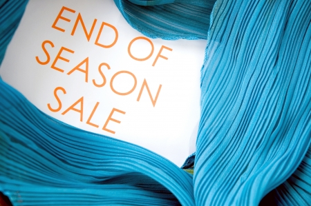 end of season sale wording with blue clothing