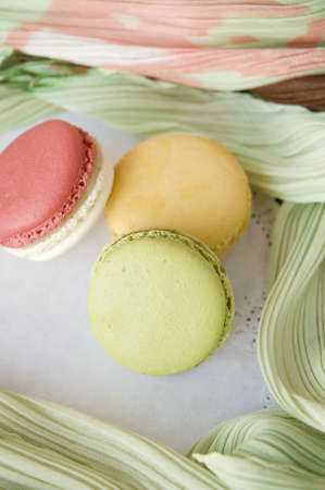 soft and sweet french macarons with soft texture background photo