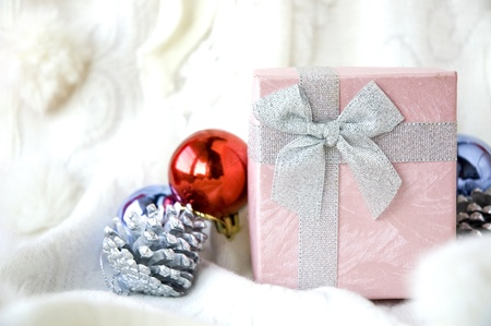special gift box with christmas ornament Stock Photo - 16707453