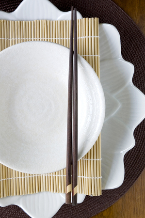 tableware set in japanese style photo