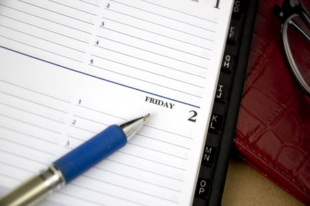 open planner on friday page