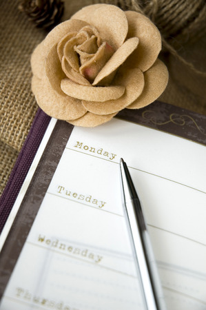 close up monday on planner page