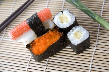 close up food: close up sushi japanese food