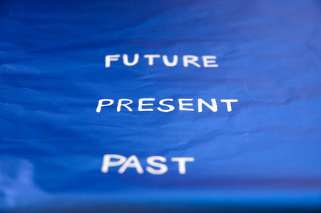 present wording between past and future photo