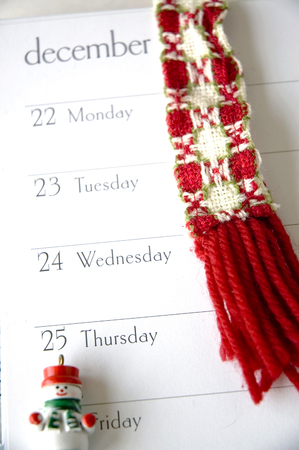 planner open on december page photo