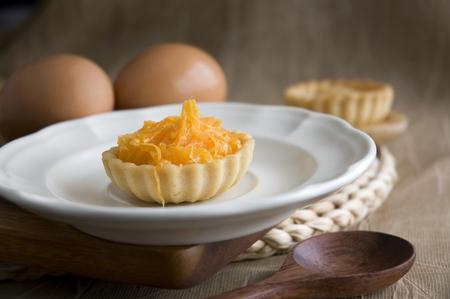 sweet tart: delicious mini sweet tart serve on white dish Stock Photo