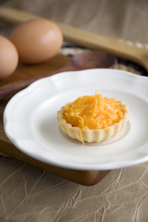 sweet tart: close up mini sweet tart on dish