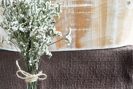 Dried white flowers bouquet with space on wooden background stock dried white flowers bouquet with space on wooden background stock photo 43840886 mightylinksfo