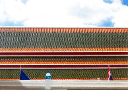 WAT PHO, BANGKOK, THAILAND, 26 SEPTEMEBER 2014: Temple roof of a building at Wat Pho in Bangkok.