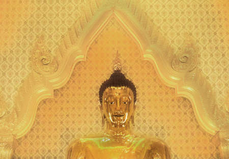 GOLDEN BUDDHA TEMPLE, BANGKOK, THAILAND, 28 SEPTEMBER 2014: The Golden Buddha inside Wat Traimit and the worlds largest solid gold statue