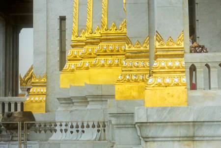 GOLDEN BUDDHA TEMPLE, BANGKOK, THAILAND, 28 SEPTEMBER 2014: Entrance to the temple housing the worlds largest solid gold statue