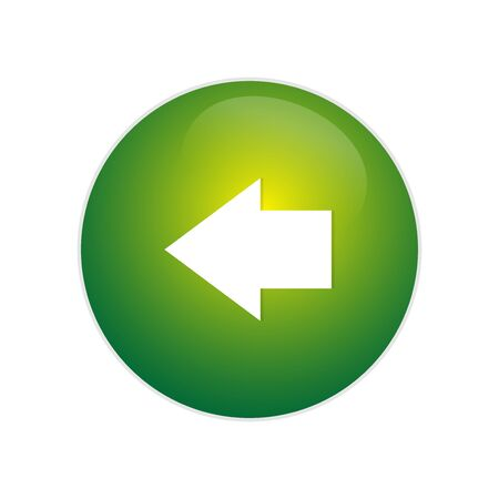 Back Button. Glossy button with arrow sign. Left arrow circle web glossy icon. Great for icon, or application usage!