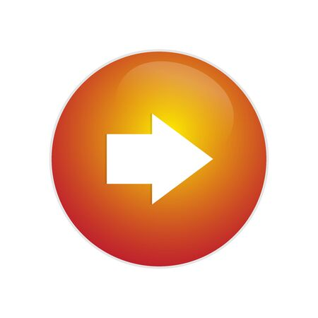 Next Button. Glossy button with arrow sign. Right arrow circle web glossy icon. Great for icon, or application usage!