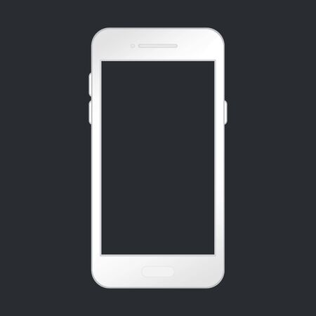 Isolated smart phone. Smartphone Mock-up for application, game, promotion and web page view. Mock up phone with blank screen