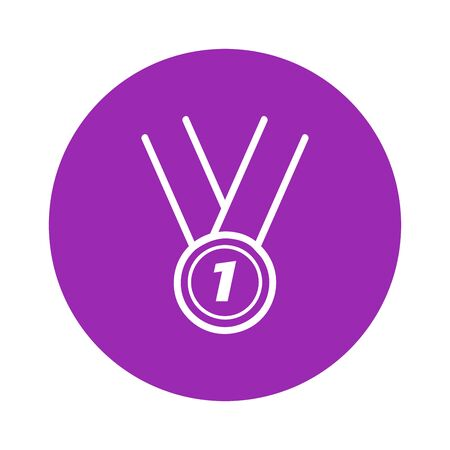 Medal for first place line icon. Stock Illustratie