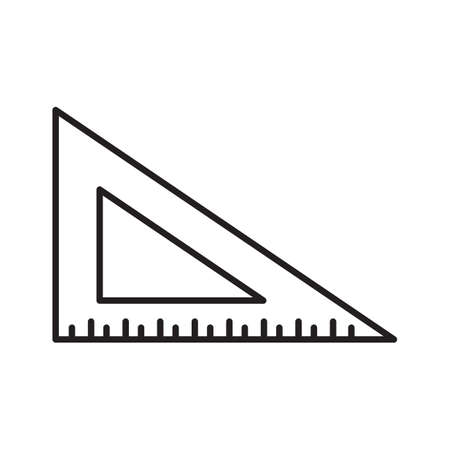 Rulers outline icon. linear style sign for mobile concept and web design. Triangle ruler simple line vector icon. Symbol, logo illustration. Pixel perfect vector graphics