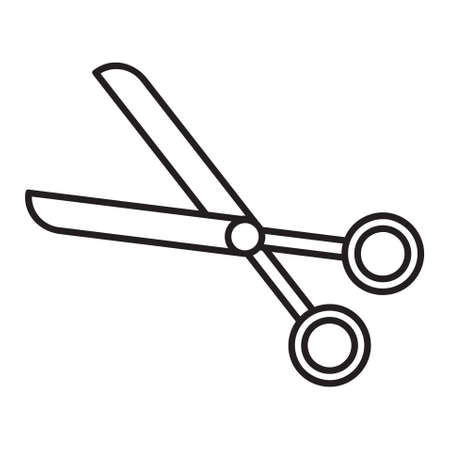 Scissor icon. Single high quality outline symbol of cut tool for web design or mobile app. Thin line signs of education for design logo, visit card, etc. Outline logo of school.