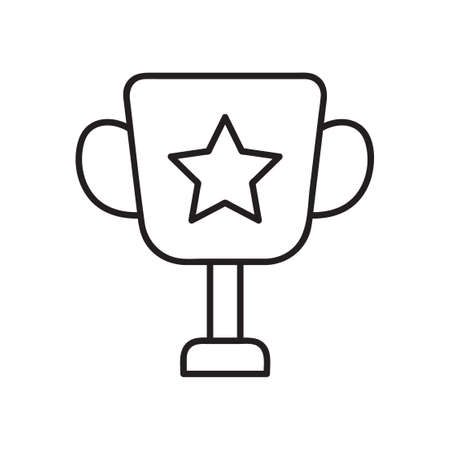 Simple trophy line icon. Stroke pictogram. Vector illustration isolated on a white background. Premium quality symbol. Vector sign for mobile app and web sites. trophy icon in trendy flat style.