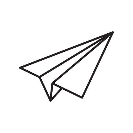 Paper Plane Icon. Single high quality outline symbol of paper plane for web design or mobile app. Thin line signs of education for design logo, visit card, etc. Outline logo of school. Stock Illustratie