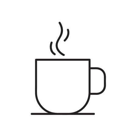 Coffee cup icon. Vector illustration. on white background. linear style sign for mobile concept and web design.