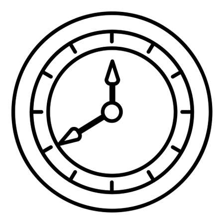 Clock icon. Single high quality outline symbol of clock or time for web design or mobile app. Thin line signs of education for design logo, visit card, etc. Outline logo of school.