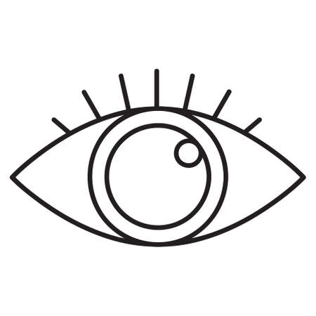 Eye icon. Single high quality outline symbol of look for web design or mobile app. Thin line signs of education for design logo, visit card, etc. Outline logo of school.