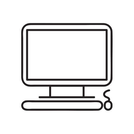 Computer monitor icon. Flat PC symbol. Vector illustration. linear style sign for mobile concept and web design. Symbol, logo illustration.