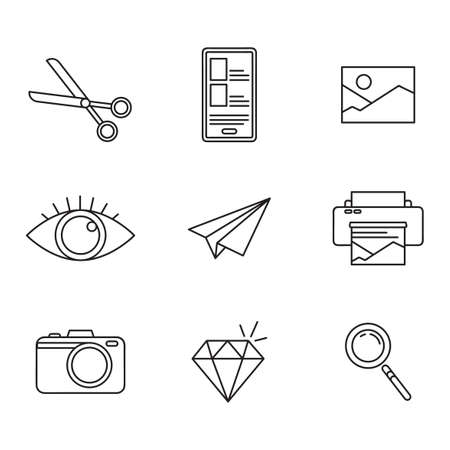 Education icon set. Collection of high quality outline web pictograms in modern flat style. Black Education symbol for web design and mobile app on white background. Monoline icon set.