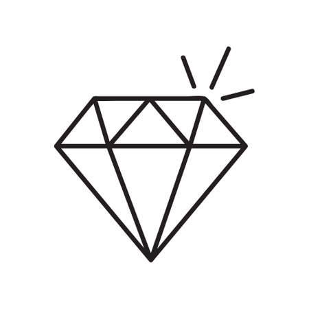 Diamond icon. Single high quality outline symbol of diamond for web design or mobile app. Thin line signs of education for design logo, visit card, etc. Outline logo of school.