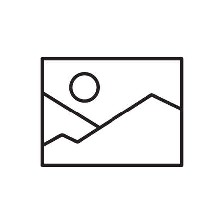 picture icon. Single high quality outline symbol of image for web design or mobile app. Thin line signs of education for design logo, visit card, etc. Outline logo of school.