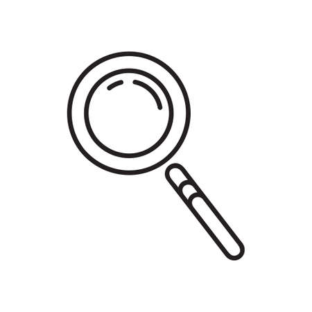 Magnifier icon. Single high quality outline symbol of searching for web design or mobile app. Thin line signs of education for design logo, visit card, etc. Outline logo of school.