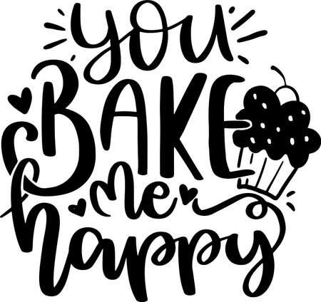 Motivational Inspirational Quotes. Baking Kitchen Lettering Quotes for Poster and T-Shirt Design Vektorgrafik