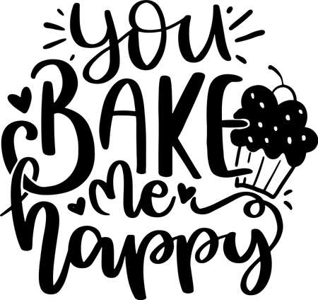 Motivational Inspirational Quotes. Baking Kitchen Lettering Quotes for Poster and T-Shirt Design Ilustración de vector