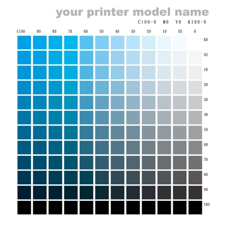 make a color chart with your printer(c100 to k100)