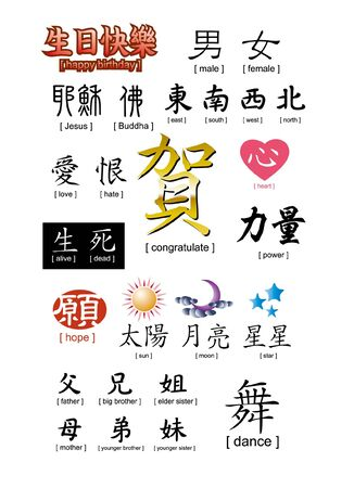 asian family: chinese word