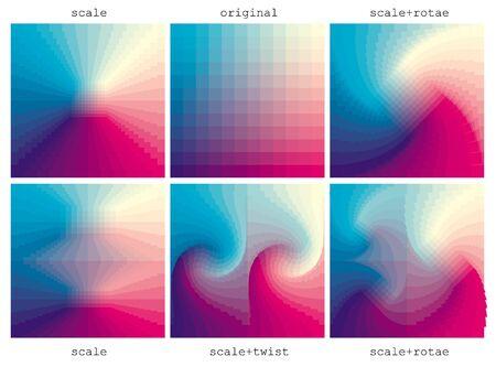 distort: distorsi�n de la tabla de colores