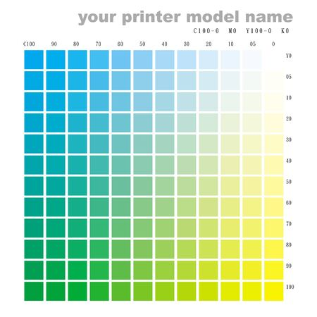 color chart: color chart c100 to y100