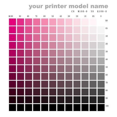 couleur graphique m100 à k100 Vecteurs