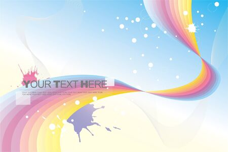 abstract background (rainbow) Stock Vector - 9929748
