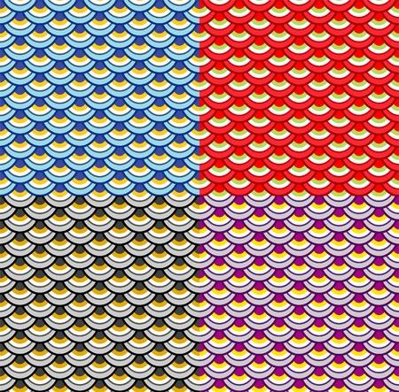 Escamas de peces coloridos de estilo Japanese(Chinese) Foto de archivo - 9929761