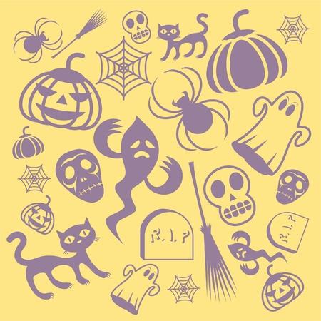 Halloween Holiday Design Elements